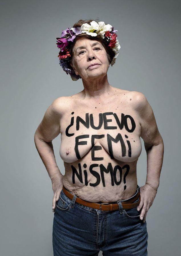 """Victoria Sendón en el artículo """"Así se expresa el nuevo feminismo"""" (campaña de *S,C,P,F)"""