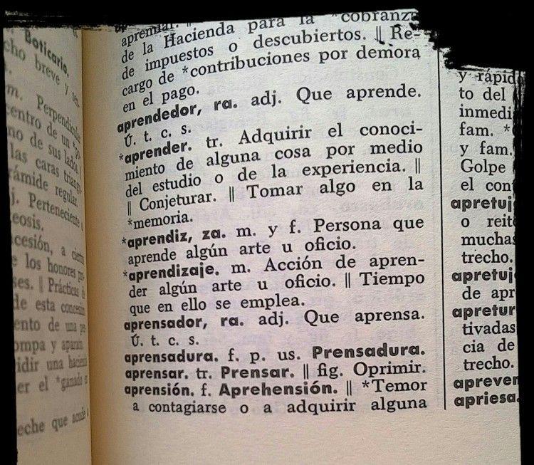 Aprender diccionario