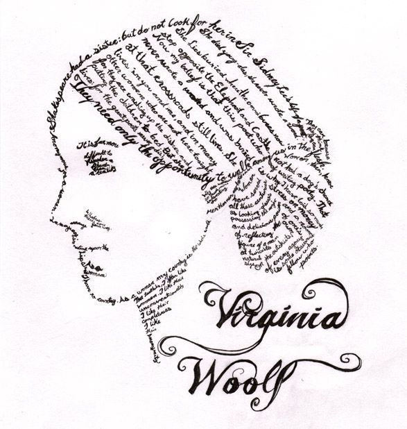 Virginia Woolf vía Deviantart