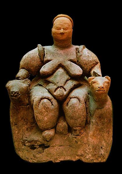 Museo, estatuilla, prehistoria, Catal Huyuk, Anatolia