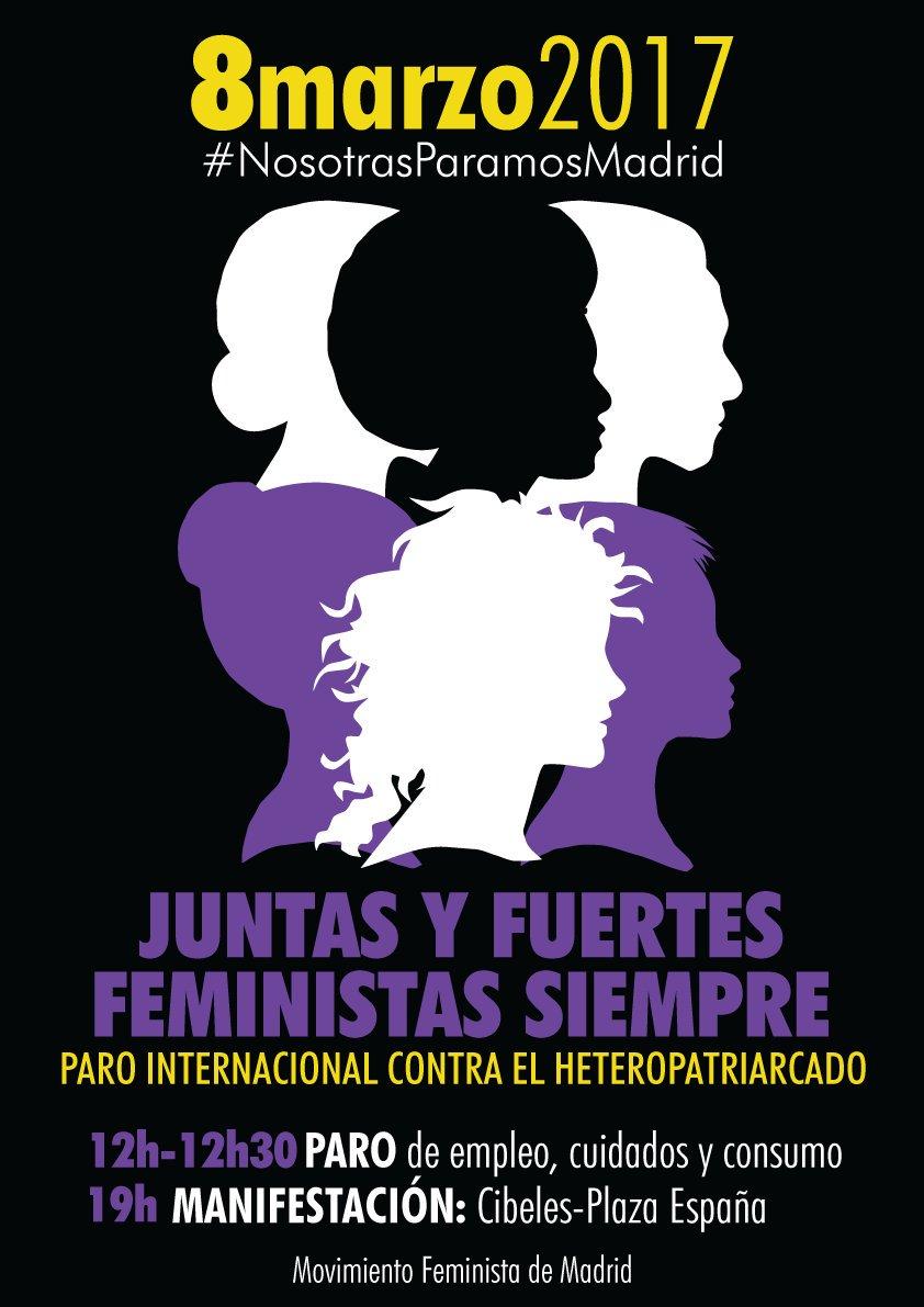 Cartel del 8M de 2017 en Madrid