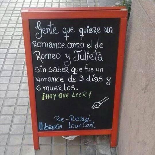 Gente que quiere un romance como el de Romeo y Julieta