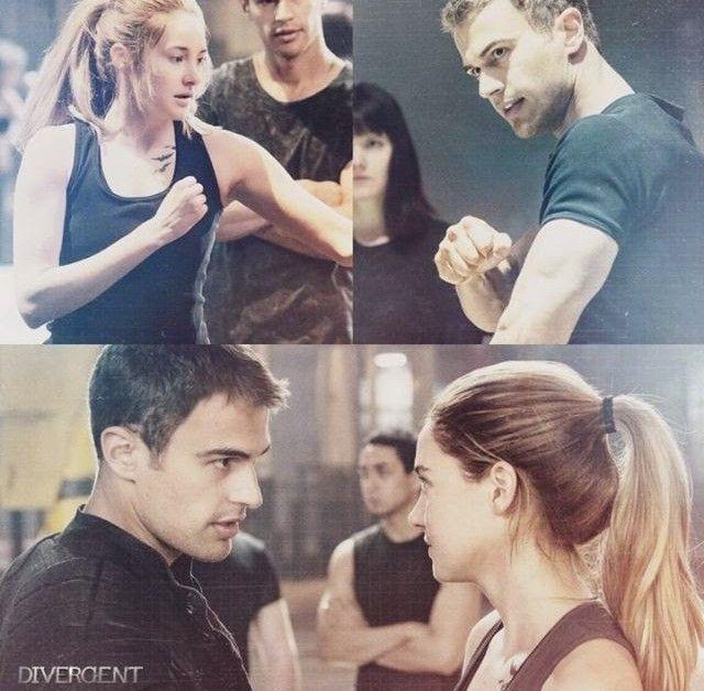 Cuatro enseña a Tris a pelear