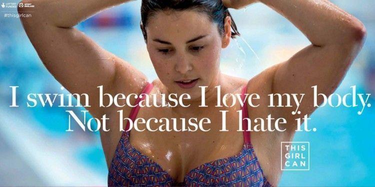 I swim because I love my body