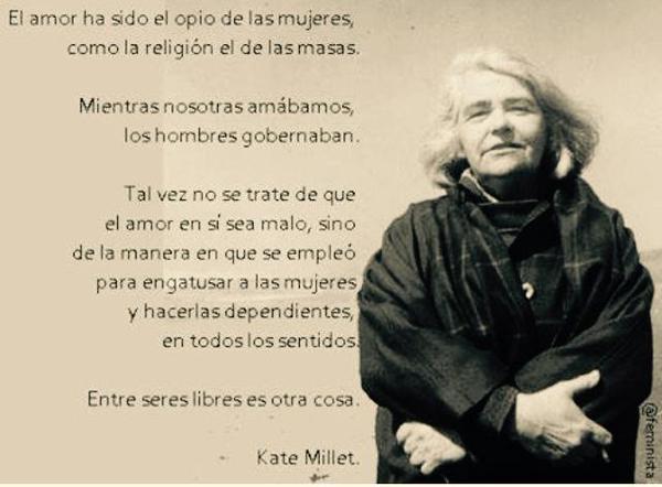 Frase de Kate Millet sobre el amor