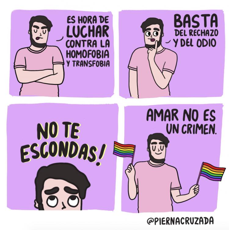 """""""Amar no es un crimen"""", por @piernacruzada"""