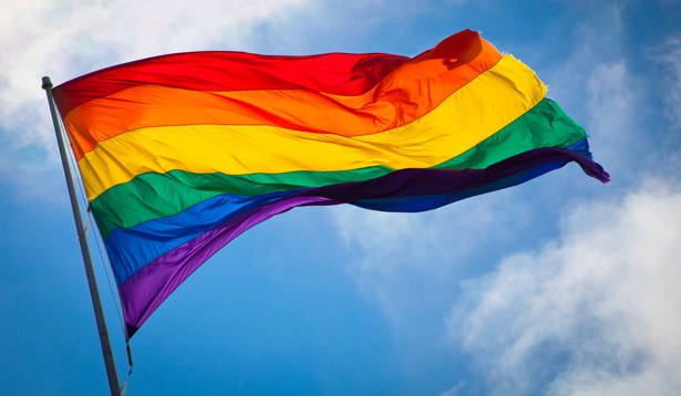 Bandera LGTB creada en 1978 por Gilbert Baker para la celebración del Orgullo en San Francisco.
